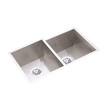 "Avado 31.25"" x 20.5"" Double Bowl Multi-Size Kitchen Sink"
