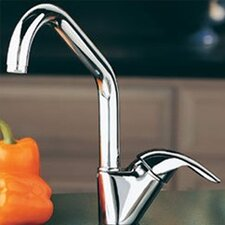 Allure Single Handle Deck Mount Kitchen Faucet with Lever Side Handle