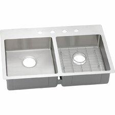 Crosstown Double Bowl Universal Mount Kitchen Sink