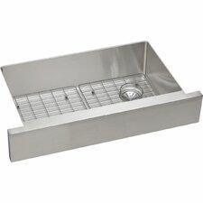 Crosstown Single Bowl Apron Front Undermount Kitchen Sink