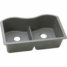 "Classic 33"" x 20"" Double Bowl Kitchen Sink"