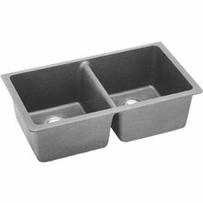 "Classic 33"" x 18.8"" Double Bowl Kitchen Sink"
