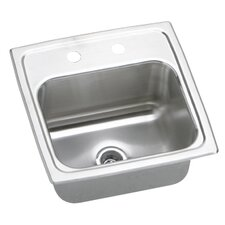 """Gourmet 15"""" x 15"""" x 7.13"""" Top Mount Kitchen Sink with Faucet"""