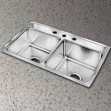 "Gourmet 33"" x 22"" Top Mount Kitchen Sink"