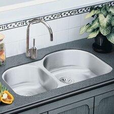 "Lustertone 31.25"" x 20"" Double Bowl Kitchen Sink"