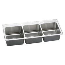 """Lustertone 54"""" x 22"""" Triple Bowl Kitchen Sink"""
