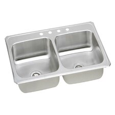 "Gourmet 43"" x 22"" Top Mount Kitchen Sink"