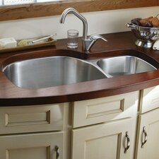 """Harmony 36.31"""" x  21.13"""" Kitchen Sink with Bottom Grid and Drain Assembly"""