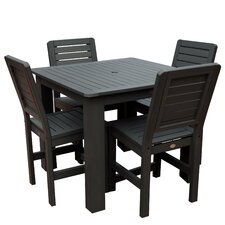 Weatherly 5 Piece Bar Height Dining Set