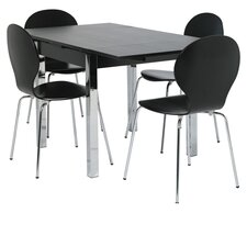 Dining Extendable Table and 4 Chairs