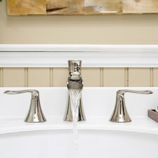 Caspian Double Handle Widespread Bathroom Faucet