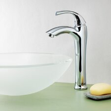 Keila Single Lever Deck Mount Vessel Faucet with Pop-Up Drain