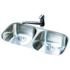 """32"""" x 18"""" Double Bowl Undermount Kitchen Sink"""