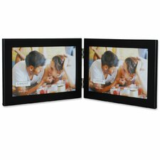 Metal Hinged Double Picture Frame