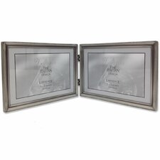 Bead Hinged Double Picture Frame