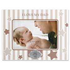 I Love My Dad Horizontal Picture Frame