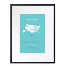 Personalized Charleston Home Framed Graphic Art