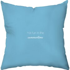 Favorite Flavors Cotton Throw Pillow