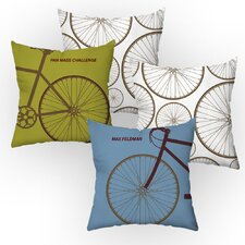 Personalized Cycle Throw Pillow (Set of 2)