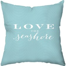 Love the Seashore Outdoor Throw Pillow