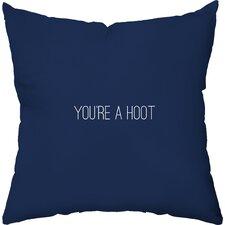 You're a Hoot Outdoor Throw Pillow