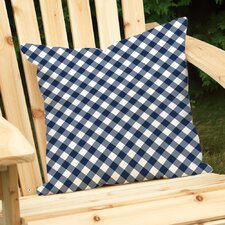 Gingham Outdoor Throw Pillow