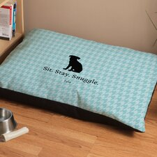 Personalized Houndstooth Dog Bed