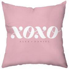 Personalized XOXO Throw Pillow