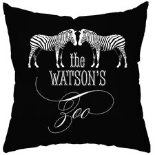Personalized Zoo Throw Pillow