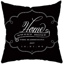 Personalized Brocade Throw Pillow