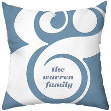 Personalized Ampersand Throw Pillow