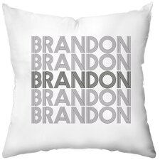 Personalized Electron Throw Pillow