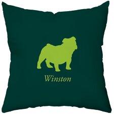 Personalized Bulldog Throw Pillow