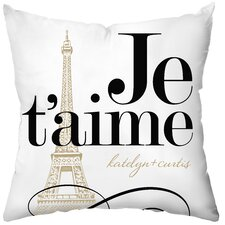 Personalized Je'taime Throw Pillow
