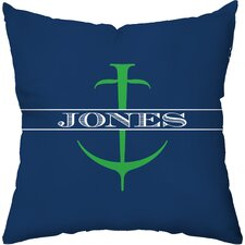 Personalized Anchor Throw Pillow