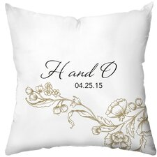 Personalized Dianthus Throw Pillow