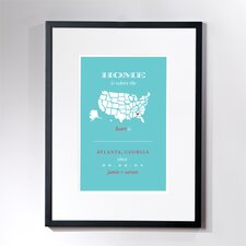 Personalized Atlanta Home Framed Graphic Art