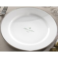 """Personalized Synthesis 12.25"""" Dinner Plate"""