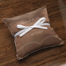 Personalized Dianthus Ring Satin Throw Pillow
