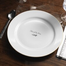 """Personalized Dianthus 12.25"""" Dinner Plate"""