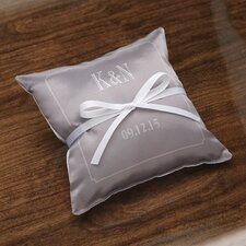 Personalized Composed Ring Satin Throw Pillow