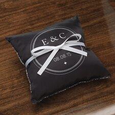 Personalized Balance Ring Satin Throw Pillow