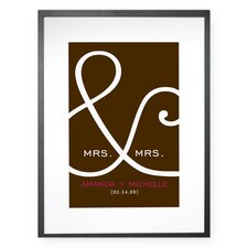 Personalized Mrs. and Mrs. Framed Textual Art
