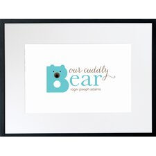 Personalized Cuddly Bear Framed Art