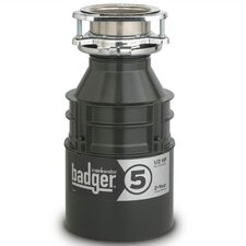 Badger Series 1/2 HP Garbage Disposal with Continuous Feed