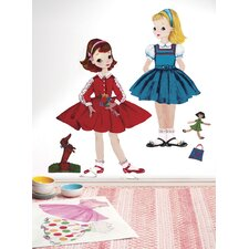 Peel and Stick Dress Up Doll Wall Decal
