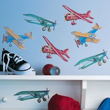 Vintage Airplanes Wallpaper Cutouts