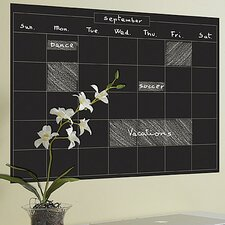 Monthly Calendar Chalkboard Wall Decal