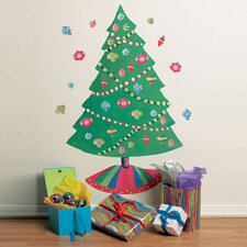 Christmas Tree Vinyl Holiday Wall Decal (Set of 2)