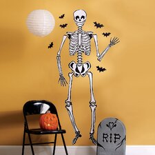 Skeleton Holiday Wall Decal (Set of 2)